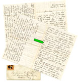 Annie Hayden to Thomas W. Hyde, autograph letter signed, Bath, Maine, January 8, 1865 [Thomas W. Hyde Papers]. - Hyde (Class of 1861), eventually founder of Bath Iron Works, raised a company for the 7th Maine Infantry during the Civil War and received a Medal of Honor for service at Antietam. Annie Hayden was betrothed to Hyde when she wrote this letter, which alludes to Hyde's racial prejudices and takes him to task for his bigotry. The couple was married in 1866.