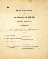 The Order of Exercises for Commencement, Bowdoin College (1826)
