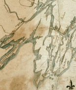 John North's Map of the Kennebeck Purchase (detail), 1785