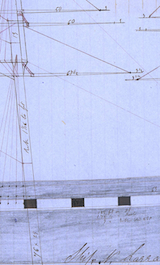 "Drawing of the ""N. Larabee"" (1856) By William Randall Maritime Papers"