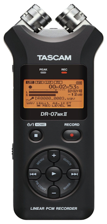 TascamDr-07MKII Audio Recorder